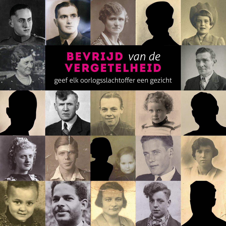Collage Bevrijd van de vergetelheid - project van Regionaal Archief Tilburg